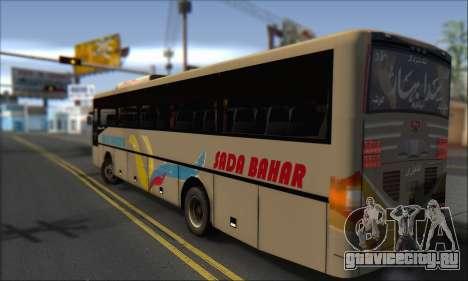 Sada Bahar Coach для GTA San Andreas вид слева
