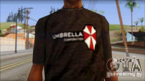 Umbrella Corporation Black T-Shirt для GTA San Andreas третий скриншот