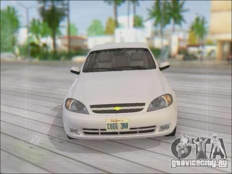 Chevrolet Lacetti для GTA San Andreas вид сверху