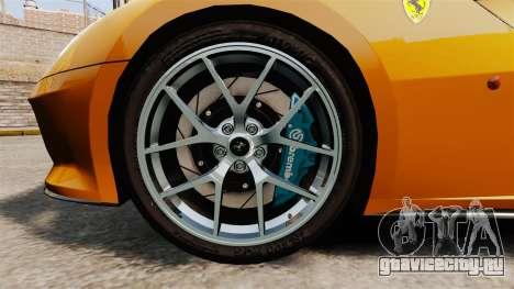 Ferrari 599 GTO PJ2 для GTA 4 вид сзади