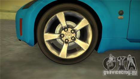Nissan 350Z для GTA Vice City вид сзади слева
