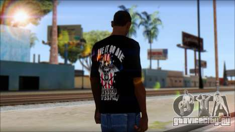 A7X Love It Or Die Fan T-Shirt для GTA San Andreas второй скриншот