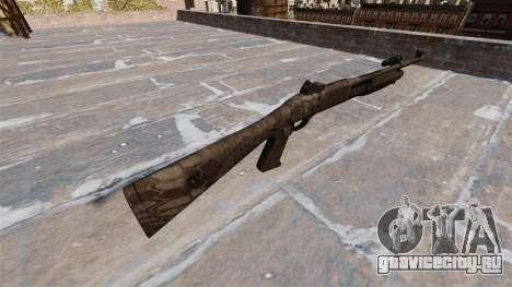 Ружьё Benelli M3 Super 90 kryptek typhon для GTA 4 второй скриншот