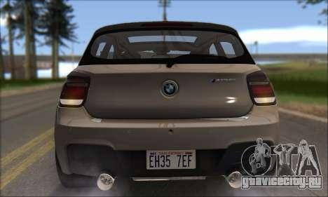BMW M135i для GTA San Andreas вид снизу