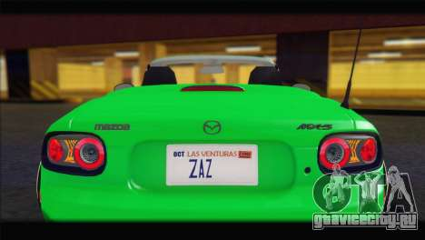 Mazda MX-5 2010 для GTA San Andreas вид изнутри