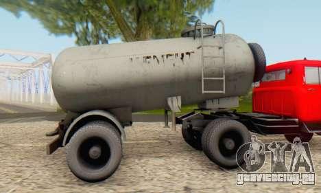 Прицеп цементовоз ТТС 26 для GTA San Andreas вид сзади слева
