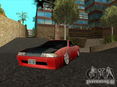 Elegy Cabrio HD для GTA San Andreas вид изнутри