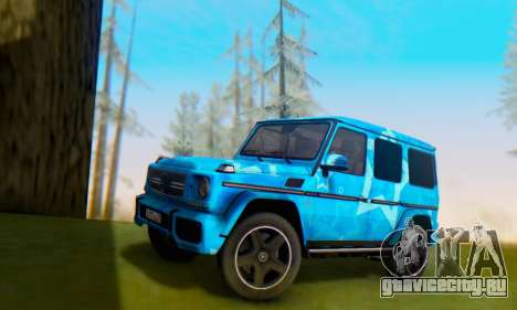 Mercedes-Benz G65 Blue Star для GTA San Andreas вид сверху