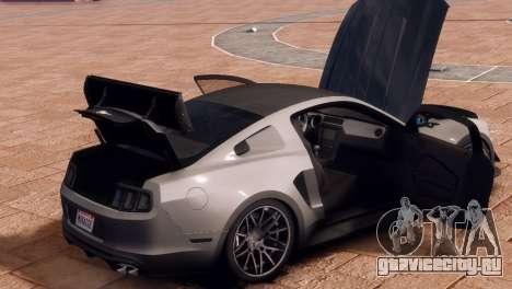 Ford Mustang GT 2014 Custom Kit для GTA 4 вид изнутри