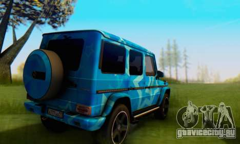 Mercedes-Benz G65 Blue Star для GTA San Andreas вид сзади