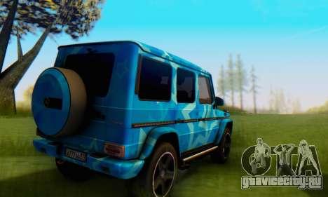 Mercedes-Benz G65 Blue Star для GTA San Andreas вид сзади