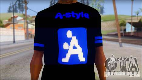 T-Shirt A-Style для GTA San Andreas третий скриншот