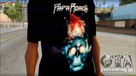 Papa Roach The Connection Fan T-Shirt для GTA San Andreas третий скриншот