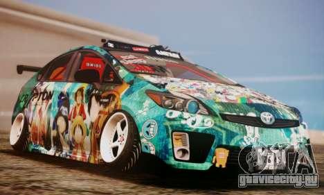 Toyota Prius Hybrid 2011 Helaflush для GTA San Andreas вид сбоку