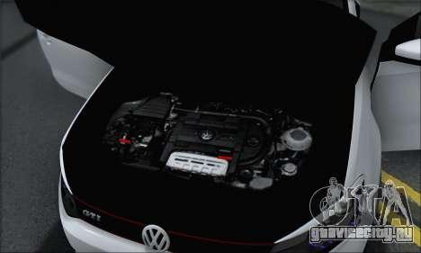 Volkswagen Polo для GTA San Andreas вид снизу