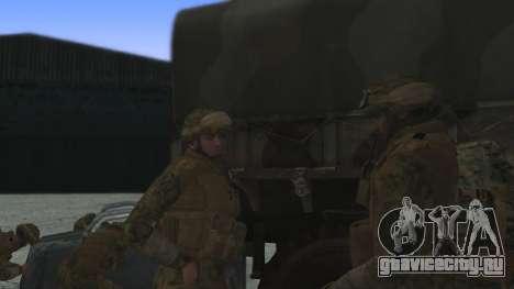 Командир отряда КМП США для GTA San Andreas второй скриншот