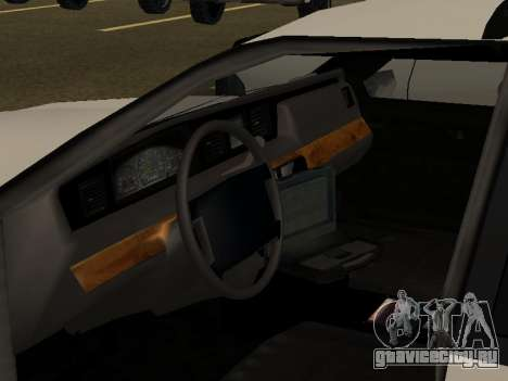 Police Original Cruiser v.4 для GTA San Andreas вид снизу