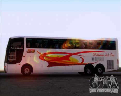 Busscar Jum Buss 400 Volvo B10R Pullman Del Sur для GTA San Andreas двигатель