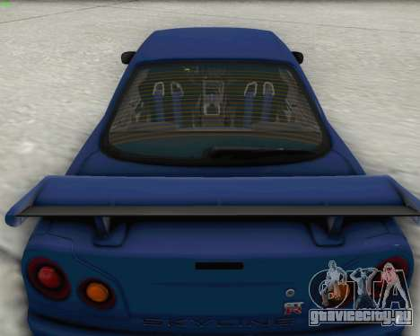 Nissan Skyline R34 Fast and Furious 4 для GTA San Andreas вид справа