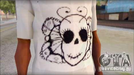 Skull Butterfly T-Shirt для GTA San Andreas третий скриншот