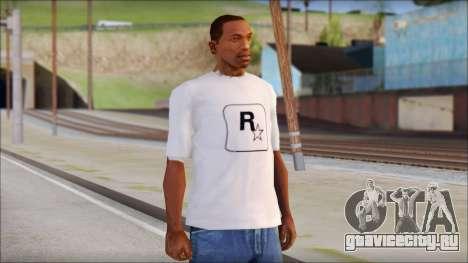 Rockstar Games White T-Shirt для GTA San Andreas