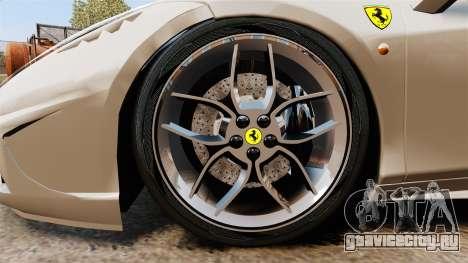 Ferrari 458 Italia Speciale Novitec Rosso для GTA 4 вид сзади