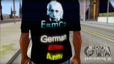 German Elite Army Emcore Fan T-Shirt для GTA San Andreas третий скриншот