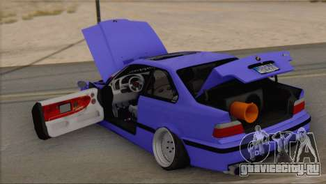 BMW M3 E36 Coupe Slammed для GTA San Andreas вид сзади