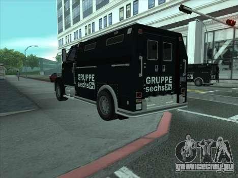 Securicar из GTA 3 для GTA San Andreas вид сзади слева