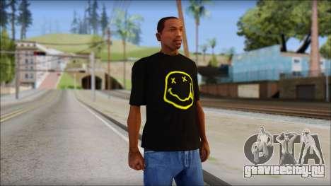 Nirvana T-Shirt для GTA San Andreas
