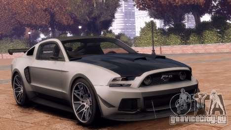 Ford Mustang GT 2014 Custom Kit для GTA 4 вид справа