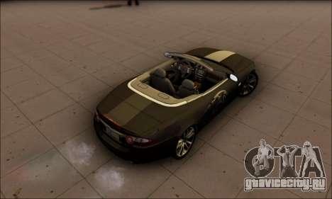 Jaguar XK 2007 для GTA San Andreas вид сзади слева