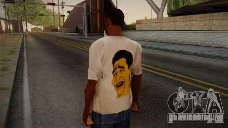 Yao Ming T-Shirt для GTA San Andreas второй скриншот