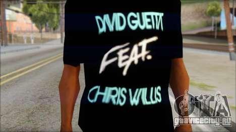 David Guetta Gettin Over T-Shirt для GTA San Andreas третий скриншот