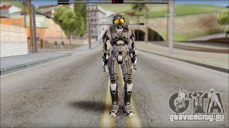 Masterchief Black from Halo для GTA San Andreas