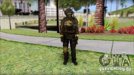 Roach Anderson in Dark Suit from MW2 для GTA San Andreas