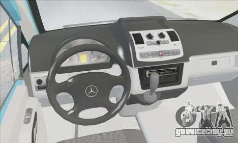 Mercedes-Benz 115 CDI Vito 2007 Stance для GTA San Andreas вид изнутри