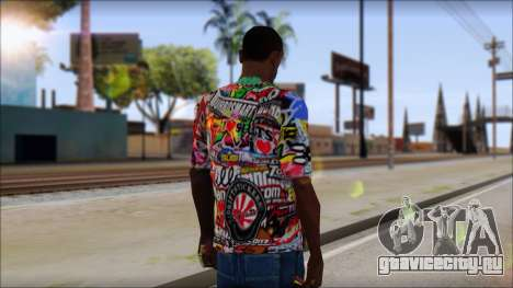 Sticker Bomb T-Shirt для GTA San Andreas второй скриншот