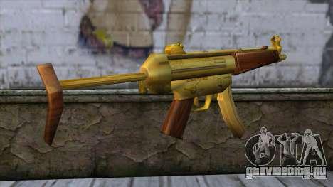 MP5 Gold from CSO NST для GTA San Andreas второй скриншот