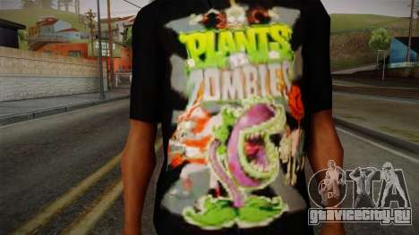 Plants versus Zombies T-Shirt для GTA San Andreas третий скриншот