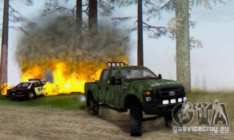 Ford F-250 Camo Lifted 2010 для GTA San Andreas вид слева