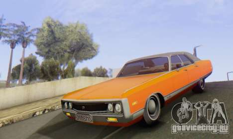 Chrysler New Yorker 1971 для GTA San Andreas вид изнутри