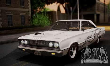 Dodge Coronet 440 Hardtop Coupe (WH23) 1967 для GTA San Andreas вид сверху