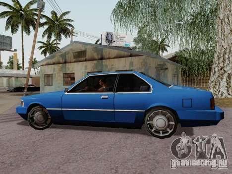 Sentinel Coupe для GTA San Andreas вид слева