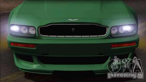 Aston Martin V8 Vantage V600 1998 для GTA San Andreas вид сзади слева