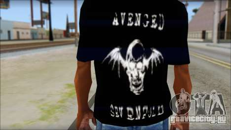 A7X Waking The Fallen Fan T-Shirt для GTA San Andreas третий скриншот
