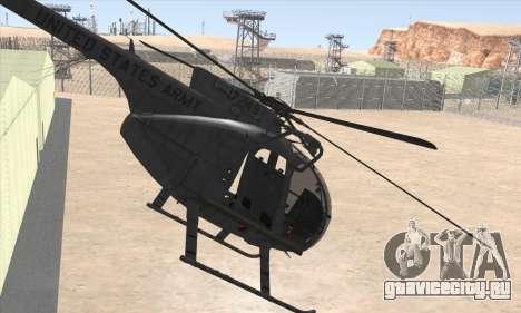 MH-6 Little Bird для GTA San Andreas вид слева