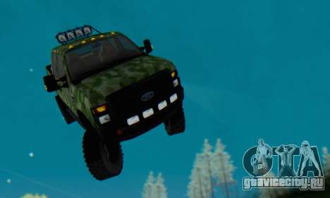 Ford F-250 Camo Lifted 2010 для GTA San Andreas вид снизу