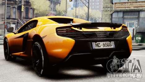 McLaren 650S Spider 2014 для GTA 4 вид слева