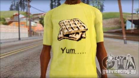 Waffle T-Shirt для GTA San Andreas третий скриншот